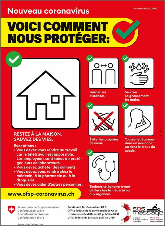 Plan de protection standard sous COVID-19: prestataires offrant des services impliquant un contact physique