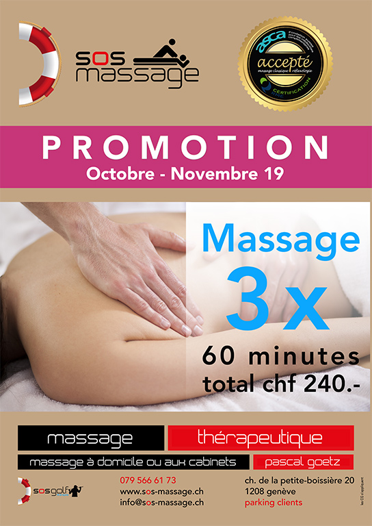 Aktion klassische Massage Oktober - November 2019